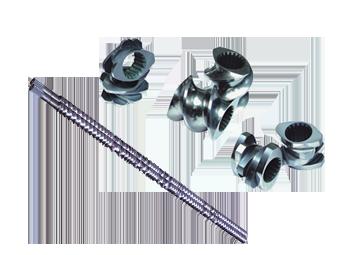 同向積木式雙螺桿/雙孔料管